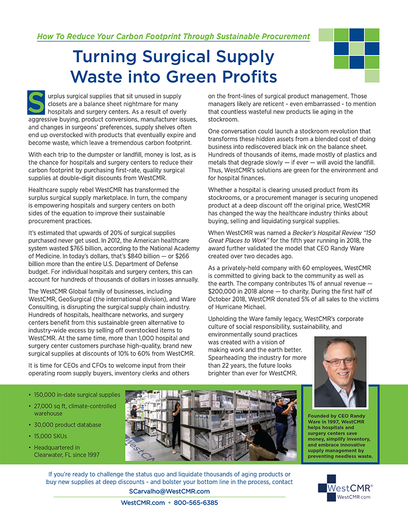 WestCMR in Supply Chain Strategies Magazine - March/April 2019