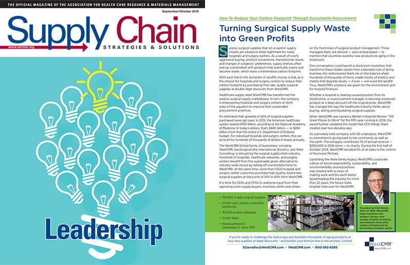 WestCMR in Supply Chain Strategies Magazine - Sept/Oct 2019